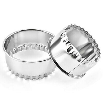 £4.80 • Buy Set X 3 Crinkled Scone Fluted Pastry Cutters Tart Quiche Stainless Steel Mince