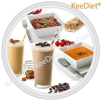 £54.99 • Buy KeeDiet VLCD Meal Replacement Diet - Set 56 Shakes Meals Soups Bars Free Blender