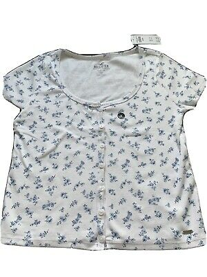 AU20.03 • Buy New Hollister Size M Girls Must Have Button Front Top Shirt Ribbed Striped