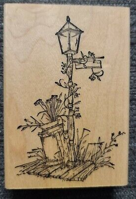 $15.29 • Buy Country Lamp & Milk Can Retired!! Art Impressions Rubber Stamps