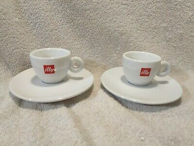 £32.20 • Buy Illy Coffee Cappuccino Cups & Saucers White Porcelain Espresso Italy Logo