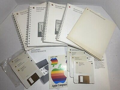 $9.99 • Buy Macintosh SE Owner's Manual + Hypercard + System + Utilities User's Guides, Disk