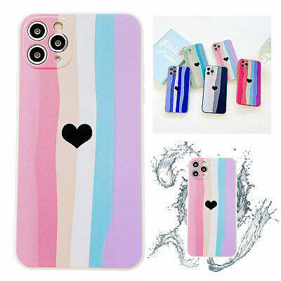 AU6.99 • Buy Girl Love Heart Silicone Phone Soft Case For IPhone 11 12 Pro Max XS XR 7 8 Plus