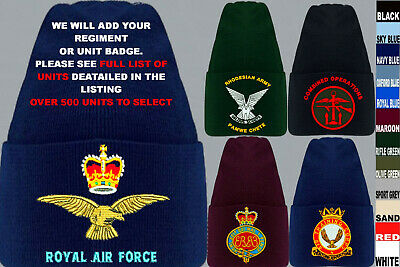 £18.50 • Buy Units S To Z Army Royal Navy Air Force Marines Raf Regiment Beanie Wooly Hat