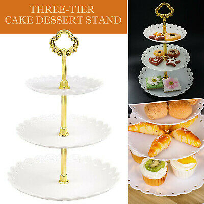 £7.99 • Buy 3 Tier Cake Stand Display Afternoon Tea Wedding Plates Party Tableware UK STOCK