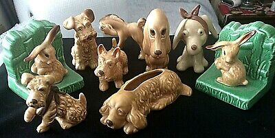 £135 • Buy Sylvac ~ Job Lot 9 X Assorted Vintage Decorative Animals Mostly Beige Brown Dogs