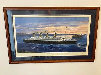 £250 • Buy Titanic Arriving At Cherbourg 1912 Signed By Survivors And Artist