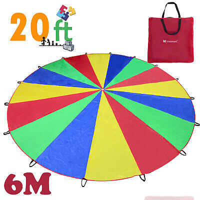 £26.59 • Buy Kids Play Parachute 6M Large Children Rainbow Outdoor Game Exercise Sport Toy