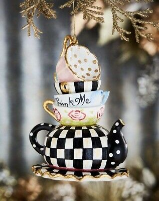 $148 • Buy MacKenzie-Childs Stacking Teacups Ornament