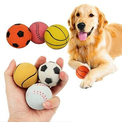 £3.67 • Buy Dog Rubber Ball Solid Tough Hard Strong Heavy Duty Fetch Toys Treat For Puppies