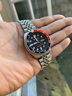$ CDN311.58 • Buy *DISCOUNT* Seiko SKX009 K Pepsi Divers Watch Good Condition, Fully Tested