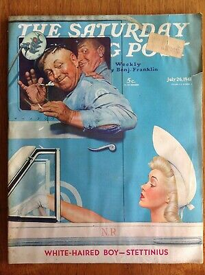 $ CDN22.33 • Buy Saturday Evening Post 1941 July 26~Norman Rockwell~Esther Williams~Coca-Cola