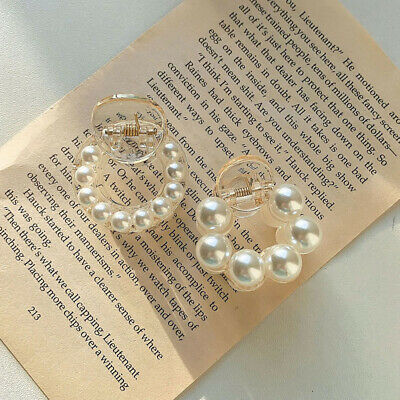 AU4.09 • Buy Women's Lady Plastic Charm Small Pearl Hair Claw Clamp Clip Hairpins Accessories