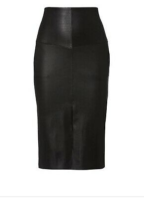 AU350 • Buy Scanlan Theodore LEATHER Pencil Skirt SIZE 8