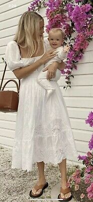 AU201.50 • Buy SPELL Capulet Soiree Dress Broderie Anglaise White - Size Small - New With Tags