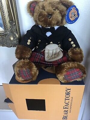 £38 • Buy Build A Bear In Scottish Outfit  Kilt Jacket Sporran Approx 40cm Tall .Rare NEW