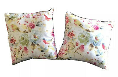 £11.64 • Buy French Country Throw Pillow Set X2 (10 Inches) White Floral Vintage Style