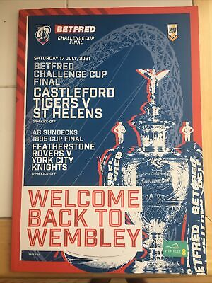 £8.99 • Buy RUGBY LEAGUE CHALLENGE CUP FINAL PROGRAMME ST, HELENS Vs CASTLEFORD TIGERS 2021