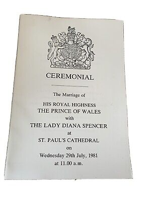 £10 • Buy Antique Ceremonial Wedding Marriage Prince Charles To Lady Princess Diana 1981
