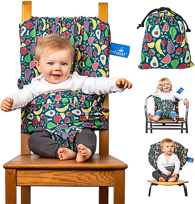 £39.09 • Buy The Totseat Portable Travel Highchair Multi-Coloured Fruit Design | Compact All