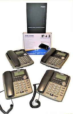 £99 • Buy Small Home Office PABX 308 Telephone System + 4 Uniden AS7403 Desk Phones New