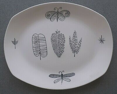 £34.49 • Buy Midwinter 12  Meat Platter NATURE STUDY By Terence Conran 1955