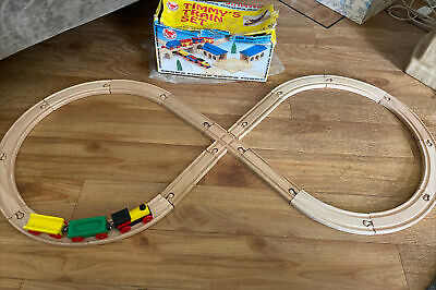 £11.99 • Buy Wooden Timmys Train Track Set Red Robin Toys Compatible With BRIO, ELC Tesco Etc