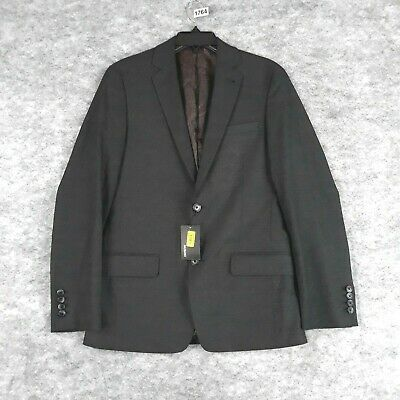 $64 • Buy Murano Blazer Men Small Charcoal Gray Slim Fit Stretch Lined Sport Coat New
