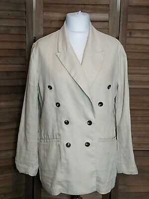 £29 • Buy Linen Suit Beige Blazer+trousers. Oversized 2 Pieces H&M Size 18-20 Used Once.