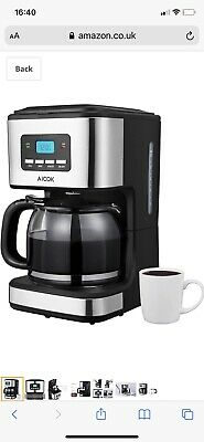 £11 • Buy Aicok Filter Coffee Machine, 1.8 Litre Drip Coffee Maker, 60s Fast Brewing,
