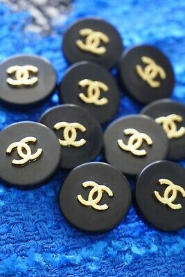 £57.30 • Buy 8 Stamped Chanel Buttons Lot Of 8 Pieces   Metal Cc Logo 0,8 Inch 20 Mm