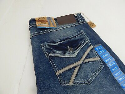 $19.99 • Buy TK Axel Slim Boot Stretch Distressed Blue Jeans Mens Size 38 X 32 New NWT