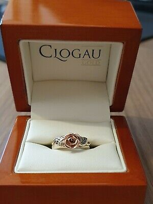£199 • Buy Clogau Yellow & Rose Gold Rose Ring Size K (Excellent)