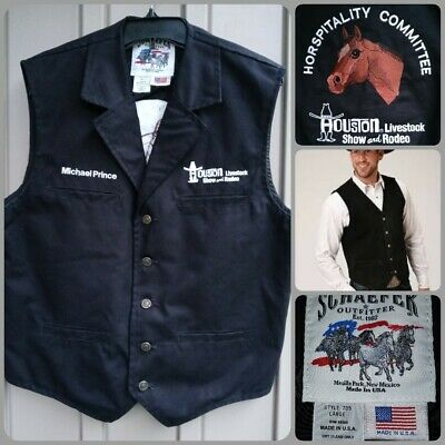 $39.99 • Buy Schaefer Outfitter (HOUSTON Show And Rodeo) Style 705 COTTON, BLACK Vest Sz (L)
