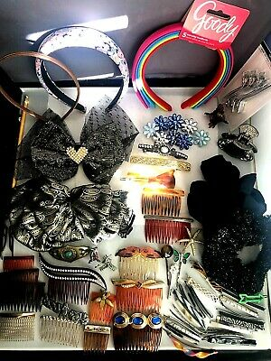 $ CDN18.87 • Buy Lot - Large Collection Of Hair Accessories Clips, Combs, Bows, Bands Etc.