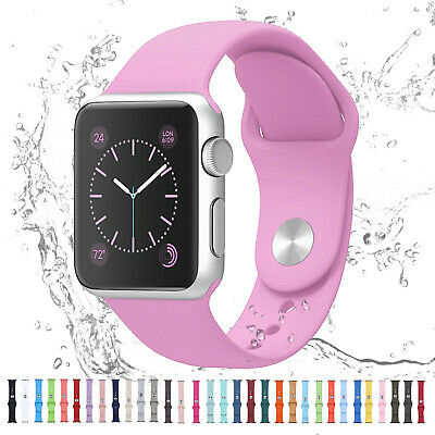 AU7.99 • Buy For Apple Watch IWatch Series 6 SE 5 4 3 38/40/42/44mm Silicone Sport Strap Band