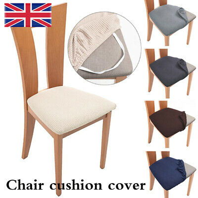 £3.49 • Buy Stretch Chair Seat Covers Removable Dining Elastic Seat Chair Cushion Slipcover.