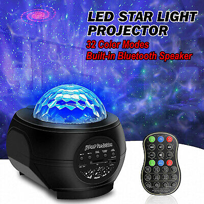£12.99 • Buy LED Starry Sky Night Light Projector Built-in Music Bluetooth Speaker Room Party