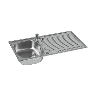 £57.59 • Buy Astracast Kitchen Sink And Tap Stainless Steel 1 Bowl Single Lever 965x500mm