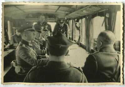 £7.40 • Buy German Wwii Photo: Wehrmacht Officers In Mobile Headquarters