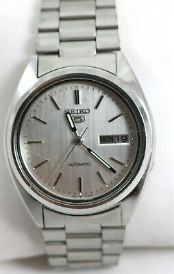 $ CDN76.79 • Buy Vintage Seiko 5 17 Jewel Cal. 7009A Automatic Day/Date Stainless Wristwatch