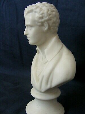 £50 • Buy Antique Parian Porcelain Bust Of Lord Byron C1850