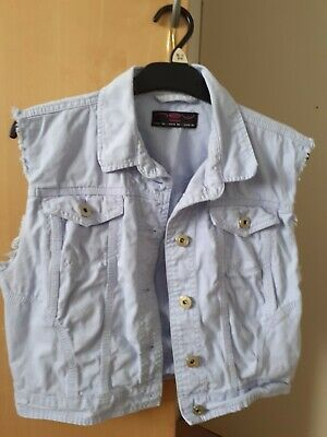 £1.99 • Buy Ladies Lilac Jeans Style Waistcoat Size 14