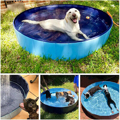 £27.93 • Buy 80 120 160cm Foldable Pet Dog Pool Pupppy Grooming Swimming Bathing Tub Shower