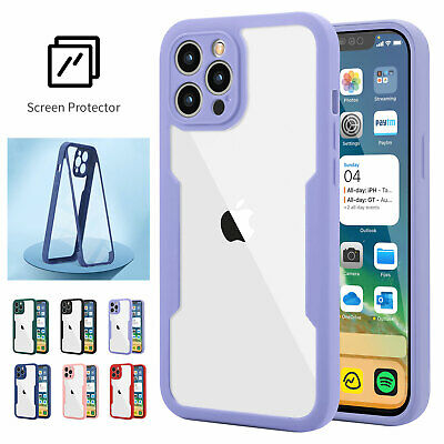 AU12.52 • Buy For IPhone 12 Pro Max 11 XS XR 8 7 360° Full Body Hybrid Screen Protector Case