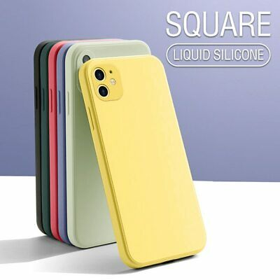 AU7.86 • Buy SOFT Thin PHONE Case For IPhone 11 12 XS MAX XR 6 7 Square Liquid Silicone Cover