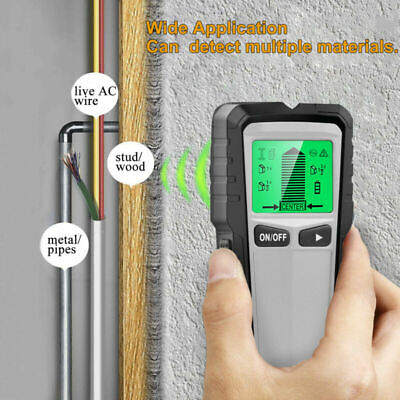 £28.99 • Buy 5in1 LCD Stud Wood Wall Center Finder Scanner Metal AC Live Wire Detector Finder
