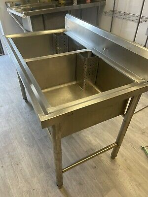 £160 • Buy Commercial Stainless Steel Deep Double Pot Wash Catering Sink