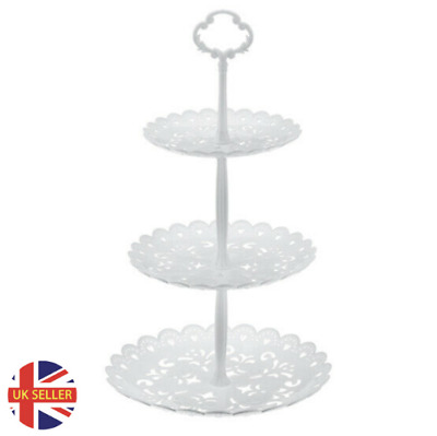 £6.99 • Buy 3 Layer Dessert Cup Cake Stand Plate Afternoon Tea Party Wedding Tableware Plate