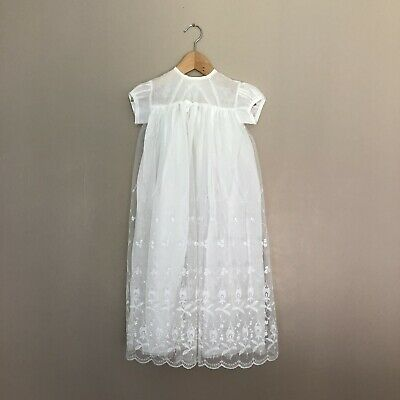 """£17.50 • Buy Vintage Totnet Christening Gown - Size 27"""" / 6-9 Months"""